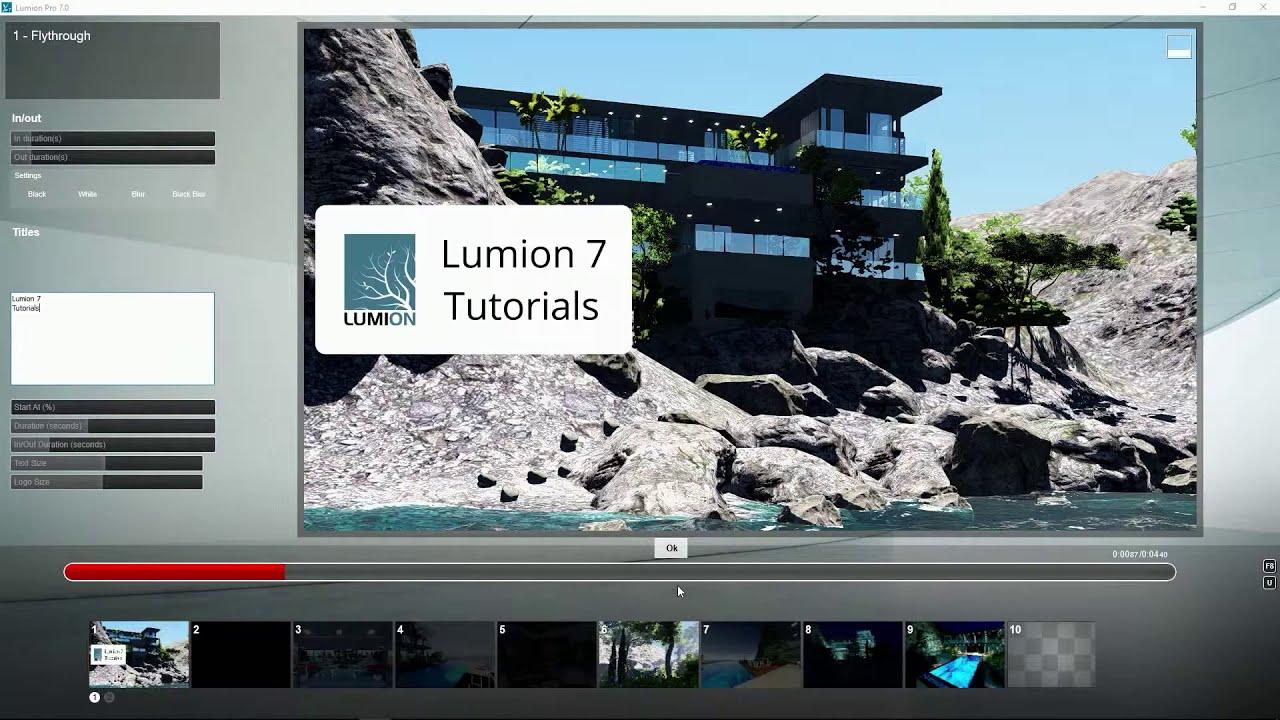 エフェクト:タイトルータイトルの配置(Lumion7 series)