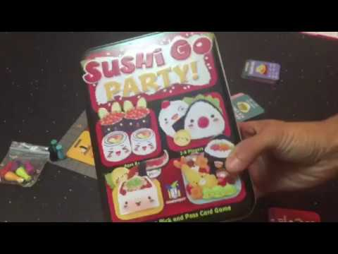 The Fighting Meeple Reviews: Sushi Go! Party