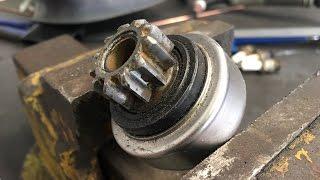 Starter motor pinion/ Bendix gear not engaging with flywheel