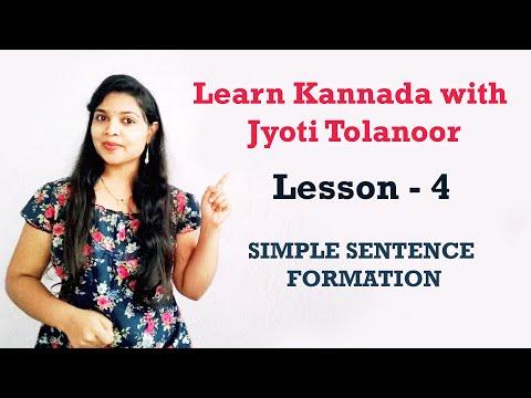 Learn Kannada through English Lesson 4 (Learn Kannada Online)   Kannada Coaching by Jyoti Tolanoor
