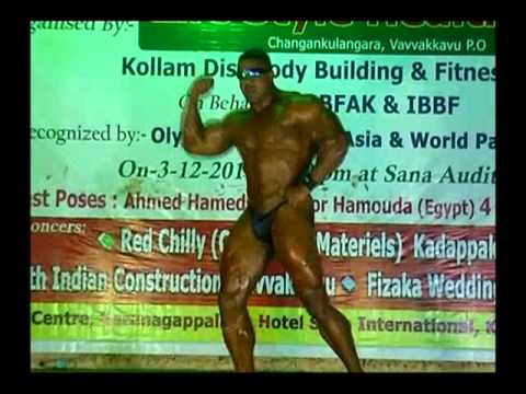 Ahamed Hamouda in 2011-12 (Miss & Mr kollam championship - kerala - S INDIA) body show ..