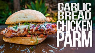 Garlic Bread Chicken Parmesan Sandwich | SAM THE COOKING GUY 4K