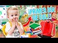 📚¡PRIMER DÍA De COLEGIO De WILLIAM! 🎒ASÍ REACCIONA AL PRIMER DÍA DE CLASE - Familia Carameluchi