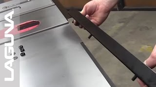 Fusion Tablesaw Setup - Install the Fence Holder Brackets and Rails - Part 6 of 18