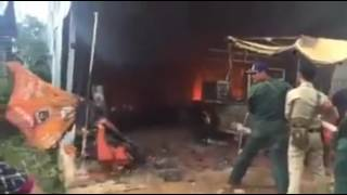 Cambodia fire | firefighters