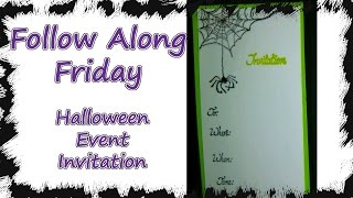 Follow Along Friday- Simple Stamped Halloween Party Invitation