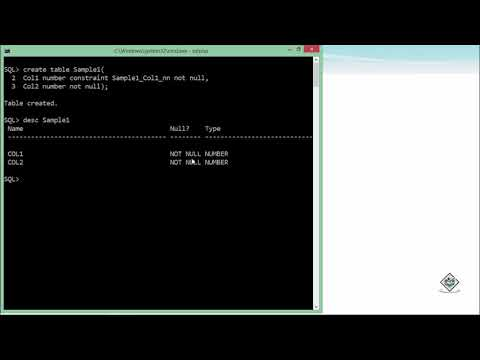 Oracle - SQL - Not Null Constraint