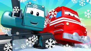 Troy der Zug -  Suzy, Das Kleine Rosa Auto 3  - Autopolis 🚄 Lastwagen Zeichentrickfilme für Kinder