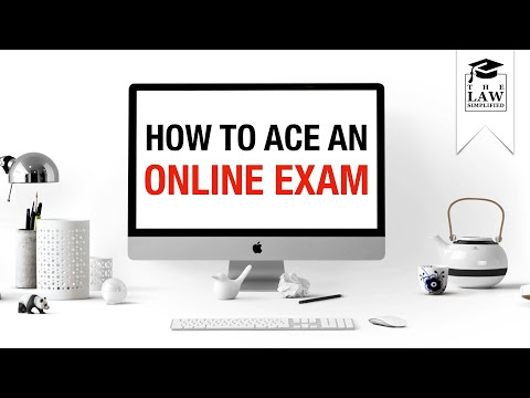 How to ACE an Online Law Exam