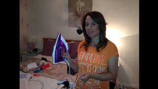 Russell Hobbs Supreme Steam 23060 Steam Iron - Unboxing & Demonstration *By my Lovely Mother*