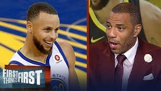 Kenyon Martin on why Curry is more of a threat to the Cavs than Durant | NBA | FIRST THINGS FIRST