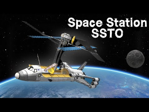 Building a Space Station inside an SSTO! - KSP
