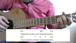 Gitar Dersi - Söyleyemedim (Hüseyin Turan)