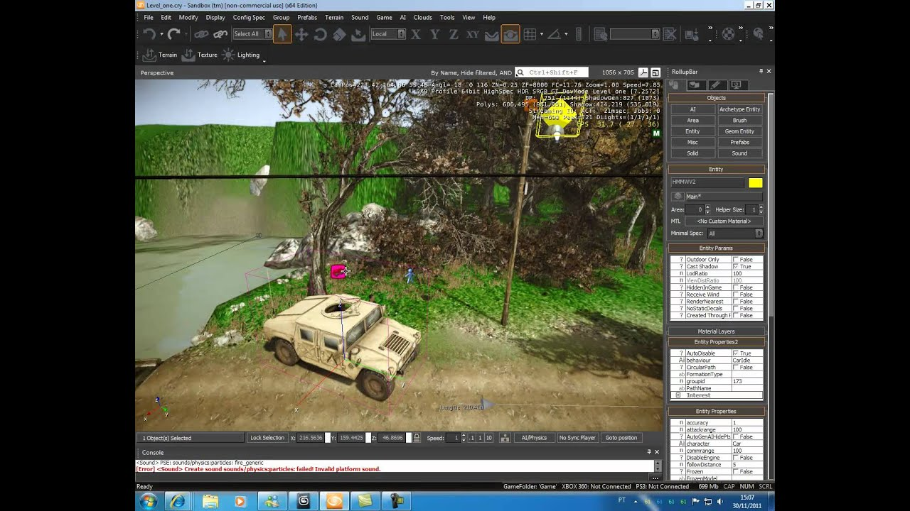 Tutorial do CryEngine 3 - FlowGraph - parte 17: criando um veículo AI (jam3D)