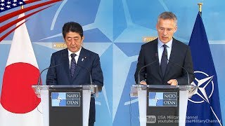 日本・NATO首脳会談「北朝鮮は国際社会の脅威」日本語字幕付き