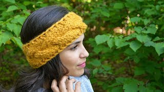 EASY KNITTING CABLE/BRAIDED HEADBAND | CJ Design ♡