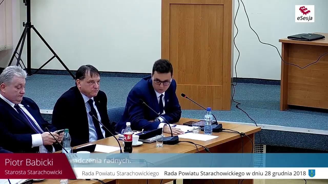 IV Sesja Rady Powiatu w Starachowicach 28.12.2018r.
