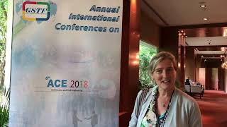 Asst. Prof. Simona Canepa at ACE Conference 2018 by GSTF Singapore