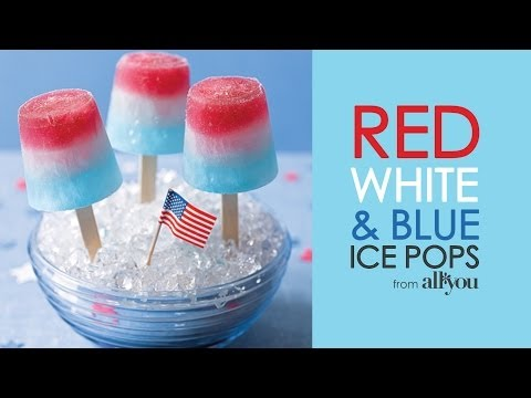 How to Make Easy Red, White, and Blue Ice Pops