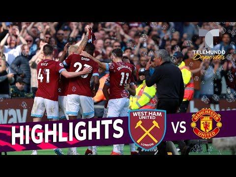 West Ham vs. Manchester United: 3-1 Goals & Highlights | Premier League | Telemundo Deportes