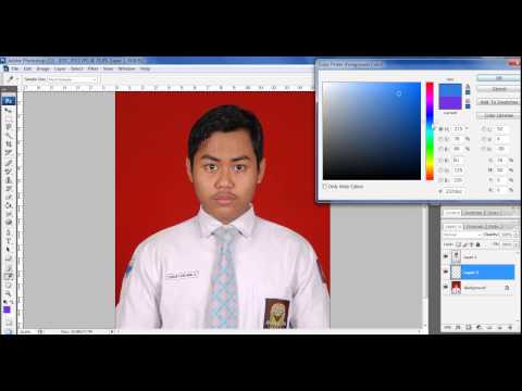 Video Cara Mengubah Background Pas Foto dengan Photoshop   Photoshop Dasar