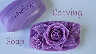 SOAP CARVING | Soap Flower |  Relaxing to Make and See