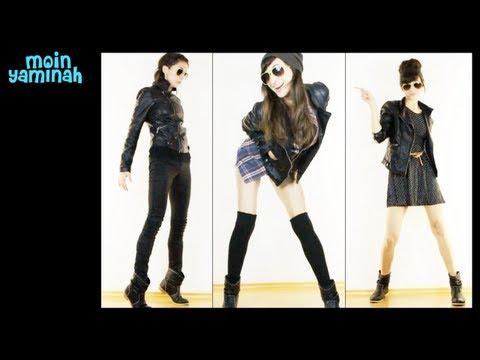 Lederjacke+Boots ♥ 3 Outfits LOOKBOOK