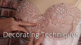 Sewing Couture Wedding Dresses For Beginners/ How To Make A Wedding Gown
