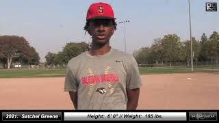 2021 Satchel Greene 6'0 Middle Infielder & Pitcher Baseball Skills Video - Game Footage included
