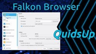 Successful look at Falkon KDE Snap Browser