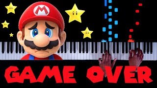 "20 CLASSIC Mario ""Game Over"" Themes on Piano"