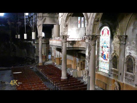 Urbex video of St-Eusèbe church after fire in Montreal, Canada