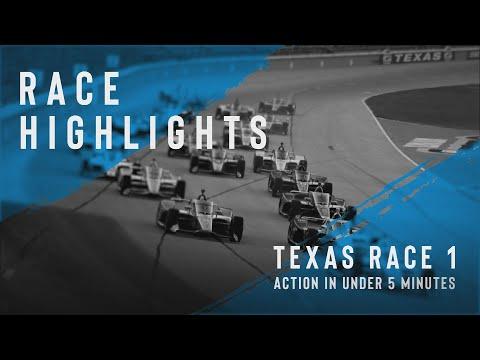 インディーカー第3戦 テキサス・モータースピードウェイの決勝レースダイジェスト動画