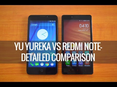 Yu Yureka vs Xiaomi Redmi Note- Detailed Comparison