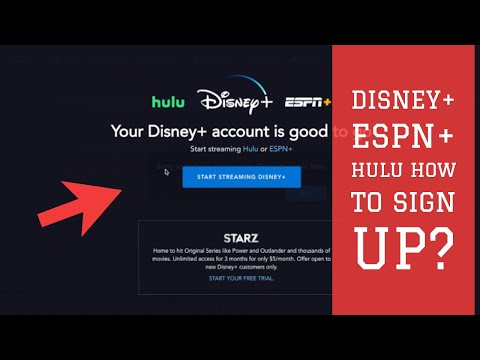 Disney Plus- How To Signup For Disney+ Bundle ESPN+ and Hulu