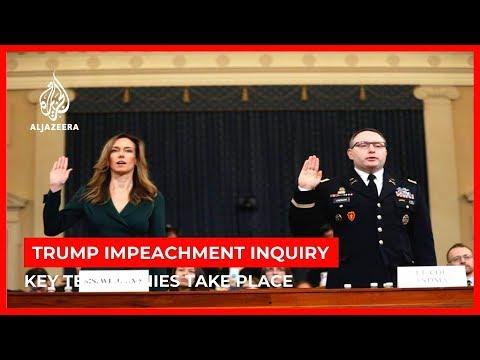 Trump impeachment hearings resume with testimonies