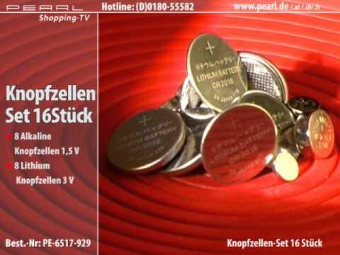 Knopfzellen 16er-Set Alkali & Lithium z.B. LR41/43 & CR2016/2032 u.v.m