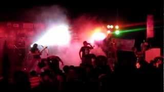 Chronic Xorn live at Fireball Guwahati (stage headbanging crowd)