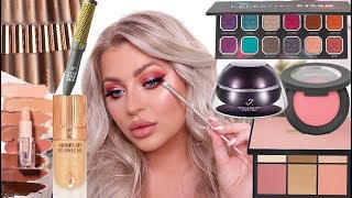 TRYING HOT NEW MAKEUP! FULL FACE FIRST IMPRESSIONS