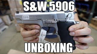 """Smith & Wesson 5906 9mm Pistol, 4"""" BBL Stainless, Used Good Condition - HG1806G"""