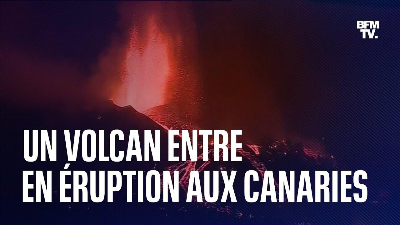 Les images impressionnantes de l'éruption d'un volcan endormi depuis 50 ans aux Canaries