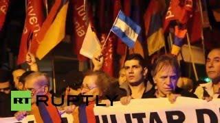 Argentina: Armenian community march on Azeri embassy over Karabakh conflict