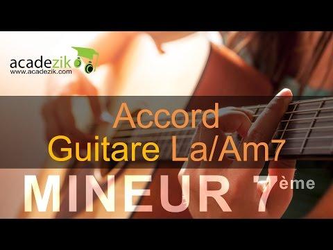 Accord guitare LA mineur septième - Am7 chord (vidéo)