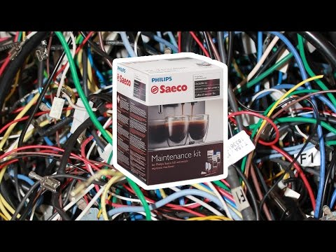 Saeco Maintenance Kit Overview   Morning Maintenance