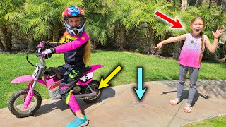 Trinity Pulls Madison's Tooth With Her Motorcycle!!!
