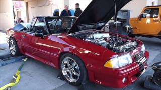 1988 Ford Mustang GT Convertible 1000hp Dyno Insane Power build