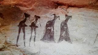 Tassili NAjjer Neolithic Cave Paintings In Algeria