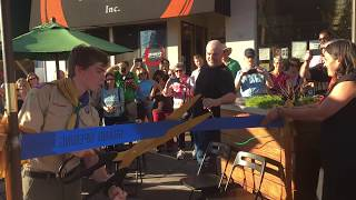 Eagle Project: Ribbon Cutting for Solano Ave Parklet