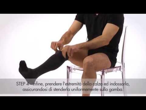 Trattamento dellunghia imputridente su una gamba