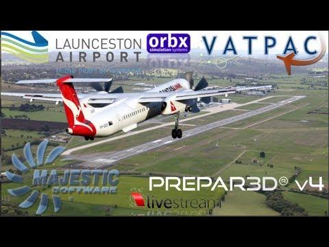VIRTAVIA live - P3D - Majestic Dash 8 Q400 - Sidney